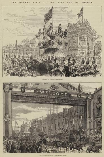 The Queen's Visit to the East End of London--Giclee Print