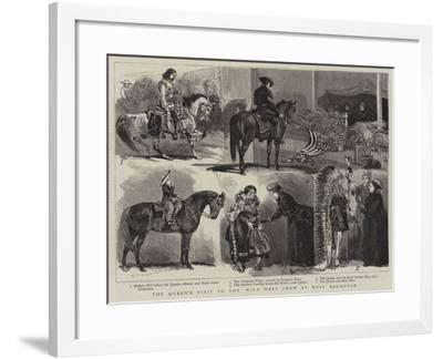 The Queen's Visit to the Wild West Show at West Brompton-Alfred Chantrey Corbould-Framed Giclee Print