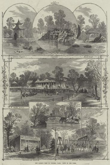 The Queen's Visit to Victoria Park, Views in the Park-William Henry Prior-Giclee Print