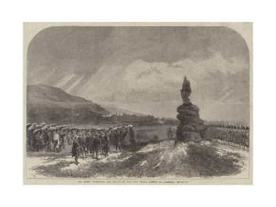 The Queen Uncovering the Statue of the Late Prince Consort at Balmoral-Charles Robinson-Giclee Print