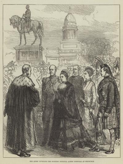 The Queen Unveiling the Scottish National Albert Memorial at Edinburgh--Giclee Print