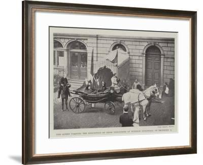 The Queen Visiting the Exhibition of Irish Industries at Windsor Guildhall on 12 December--Framed Giclee Print