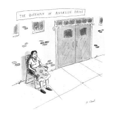 """""""The Queenpin of Riverside Drive"""" - New Yorker Cartoon-Roz Chast-Premium Giclee Print"""