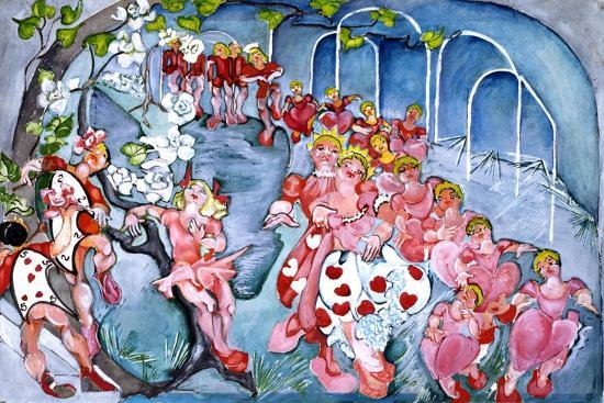 The Queens Croquet Ground-Zelda Fitzgerald-Art Print