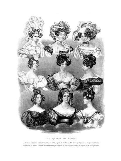 The Queens of Europe, 19th Century--Giclee Print