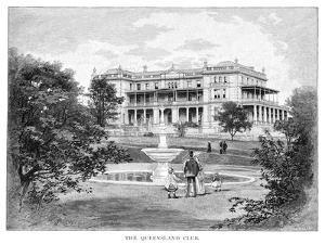 The Queensland Club, Australia, 1886