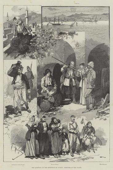 The Question of the Retention of Cyprus, Sketches in the Island-Frederic De Haenen-Giclee Print