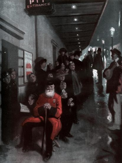 The Queue, the Pensioner and the Dollar Princess, 1910-Fred Leist-Giclee Print