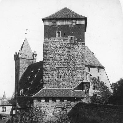 The Quintagonal Tower (Funfeckiger Thur), Kaiserstallung, Nuremberg, Germany, C1900s-Wurthle & Sons-Photographic Print