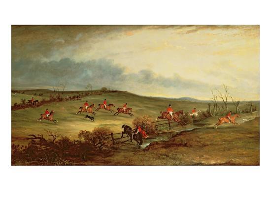 The Quorn in Full Cry Near Tiptoe Hill-John E^ Ferneley-Giclee Print