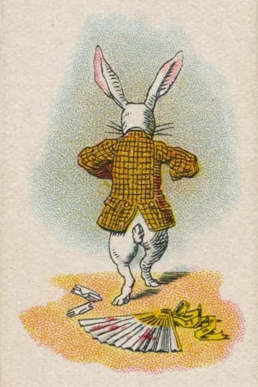 The Rabbit Running Away, 1930-John Tenniel-Giclee Print