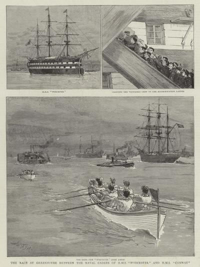 The Race at Greenhithe Between the Naval Cadets of HMS Worcester and HMS Conway-Joseph Nash-Giclee Print