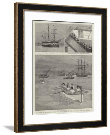 The Race at Greenhithe Between the Naval Cadets of HMS Worcester and HMS Conway-Joseph Nash-Framed Giclee Print