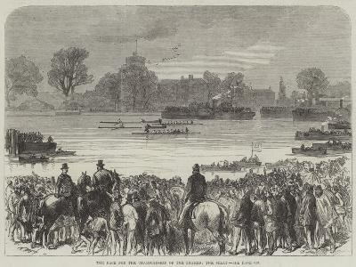 The Race for the Championship of the Thames, the Start--Giclee Print