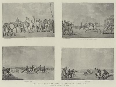 The Race for the Derby a Hundred Years Ago-Thomas Rowlandson-Giclee Print