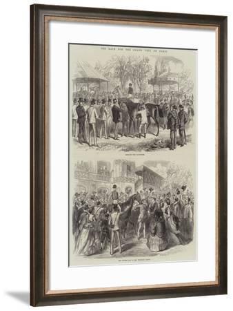 The Race for the Grand Prix De Paris--Framed Giclee Print