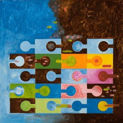 The Race of the Spermatoza, 2006-Jan Groneberg-Giclee Print