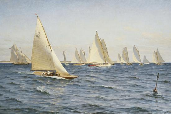 The Race-Axel Johansen-Premium Giclee Print
