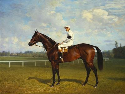 The Racehorse, 'Northeast' with Jockey Up-Emil Adam-Giclee Print