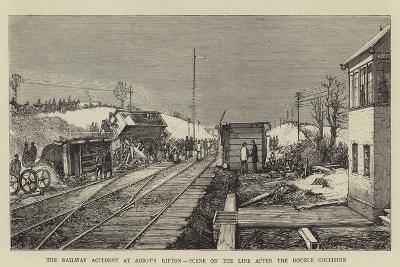The Railway Accident at Abbot's Ripton, Scene on the Line after the Double Collision--Giclee Print