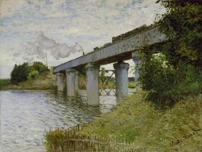 The Railway Bridge at Argenteuil, about 1873/74-Claude Monet-Giclee Print