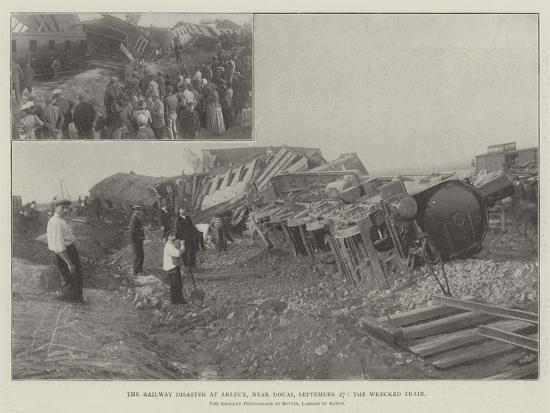 The Railway Disaster at Arleux, Near Douai, 27 September, the Wrecked Train--Giclee Print