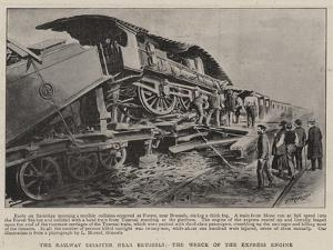 The Railway Disaster Near Brussels, the Wreck of the Express Engine