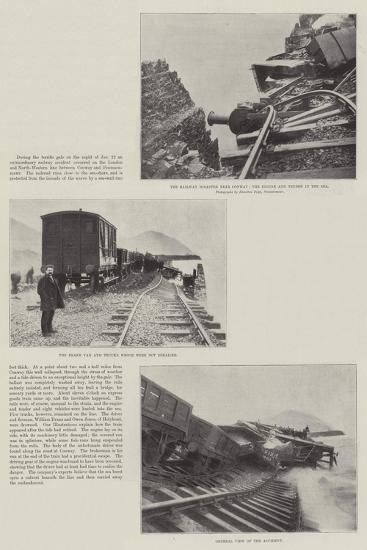 The Railway Disaster Near Conway--Giclee Print