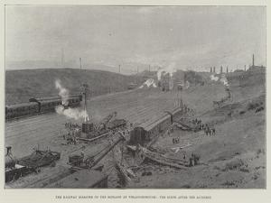 The Railway Disaster on the Midland at Wellingborough, the Scene after the Accident