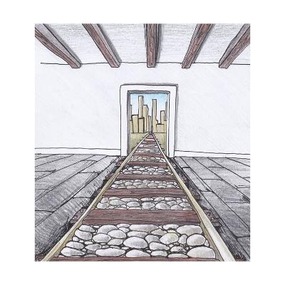 The Railway into the Room-tannene-Art Print