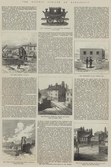 The Railway Jubilee at Darlington--Giclee Print