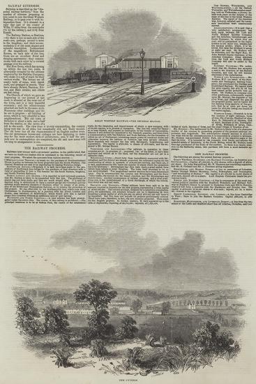 The Railway Progress--Giclee Print