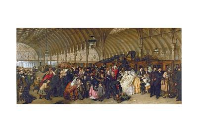 The Railway Station, 1862-William Powell Frith-Giclee Print