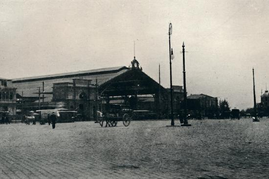 'The Railway Station, Santiago', 1911-Unknown-Photographic Print