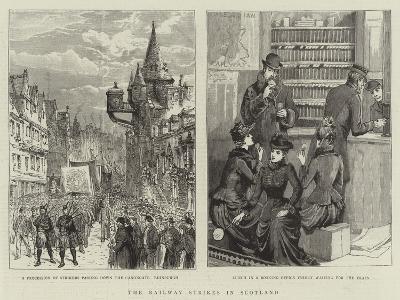The Railway Strikes in Scotland--Giclee Print