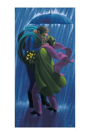 The Rain Shower-Claude Theberge-Art Print