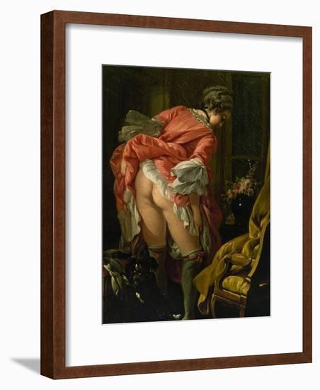 The Raised Skirt, 1742-Francois Boucher-Framed Giclee Print