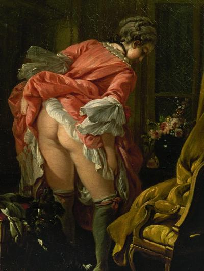 The Raised Skirt, 1742-Francois Boucher-Giclee Print