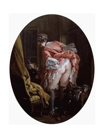 The Raised Skirt, 1742-Fran?ois Boucher-Giclee Print