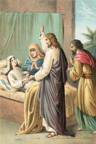 The Raising of Jairus' Daughter-English School-Giclee Print