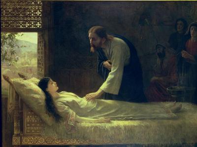The Raising of Jairus's Daughter, 1889-Edwin Longsden Long-Giclee Print