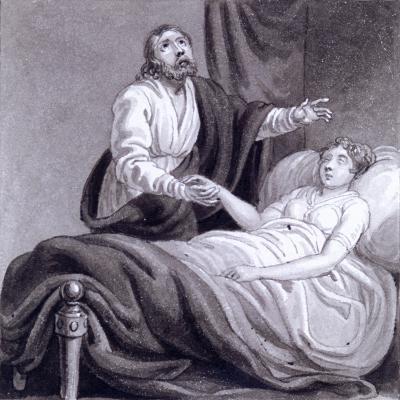 The Raising of Jairus's Daughter, C1810-C1844-Henry Corbould-Giclee Print