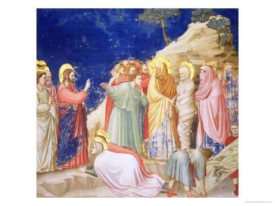 The Raising of Lazarus, circa 1305 (Pre-Restoration)-Giotto di Bondone-Giclee Print