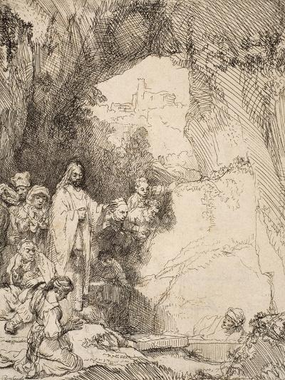 The Raising of Lazarus: the Small Plate, 1642--Giclee Print