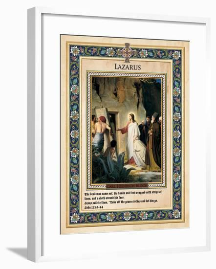 The Raising of Lazarus-Carl Bloch-Framed Giclee Print