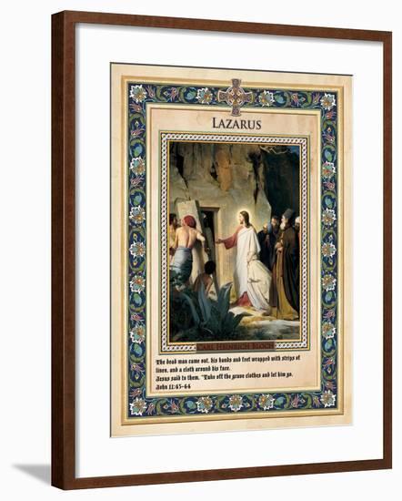 The Raising of Lazarus-Carl Bloch-Framed Giclee Print