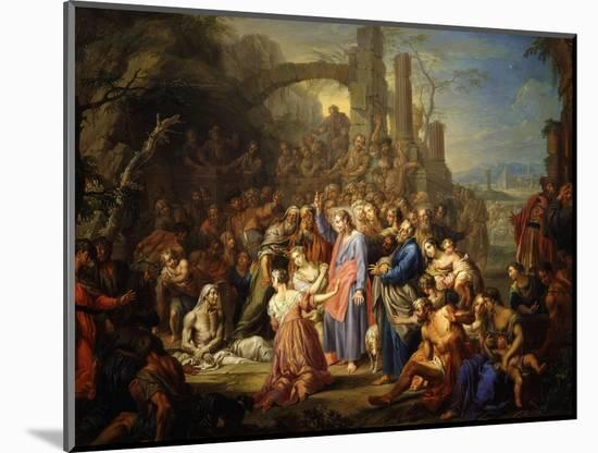 The Raising of Lazarus-Frans Christoph Janneck-Mounted Premium Giclee Print