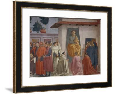The Raising of the Son of Theophilus-Tommaso Masaccio-Framed Giclee Print