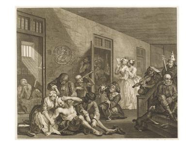 The Rake's Progress, a Scene in Bedlam Asylum--Giclee Print