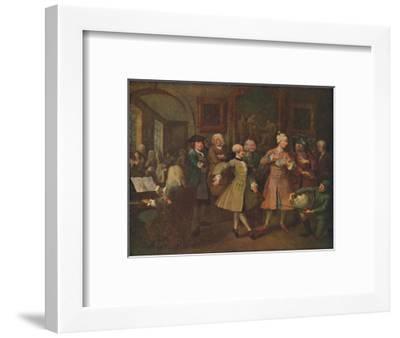 'The Rake's Progress - The Levee', 1720-1735, (1920)-William Hogarth-Framed Giclee Print